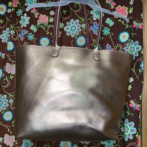 Bath and body works bag rose gold. Slightly used